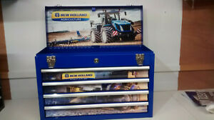 New Holland themed and created specialist 4 drawer metal toolbox gift idea bl