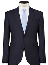 NEW JOHN LEWIS PURE WOOL SHADOW STRIPE TAILORED FIT SUIT JACKET 42 R NAVY