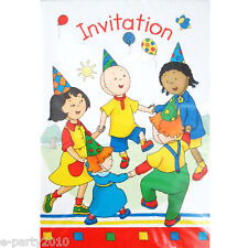 Caillou Vintage Invitations (8) ~ Birthday Party Supplies Stationery Cards Notes