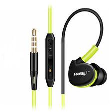 Green Waterproof Earphones In Ear Earbuds Sport Headphones Bass Headset With Mic