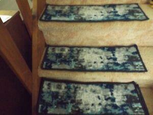 """Lot of 13 Non-Slip Soft Carpet Strips Step Rug Floor Mat Grips 8.5"""" x 26"""""""