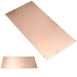 99.9% Pure Copper Sheet Plate Options Guillotine Cut 0.1mm,0.2mm,0.5mm New