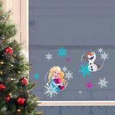Xmas Fenstersticker Anna Elsa Olaf Frozen Fensterbilder Weihnachten Fensterdeko