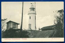 Lighthouse Chacachacare Trinidad BWI old postcard