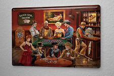 Nostalgic Tin Sign Western Style Saloon Poker Roulette