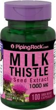Extracto  de Cardo Mariano , 1000 mg, 100 Cápsulas, Milk Thistle, Silimarina