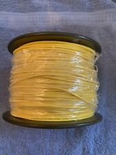 """20 AWG Gauge Solid BC HMWPE Wire Yellow 500 ft 0.020"""" Sunlight Resistant Dogtek"""