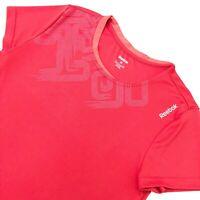 Womens Reebok Shirt size Medium Short Sleeve Crew Neck Red Athletic Excellent UC
