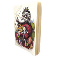 MINI Vintage Thomas Nast Merry Old Santa Clause Reproduction Christmas Notebook