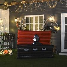 HOMCOM 6'  Halloween Inflatable Vampire Emerging Coffin LED Lights Indoor