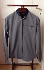 Magnifique chemise gris bleu SELECTED ! Taille S ! 100% coton !