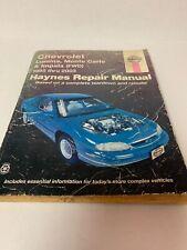 Chevrolet Lumina, Montecarlo& Impala (1995-2003) Haynes Repair Manual