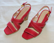 Filippo Raphael Shoes Womens - Sassy Design Wedge - Colour Red - Size 38