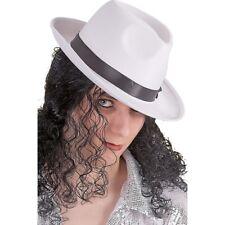 Cappello Gangster in raso bianco circonferenza cm 58