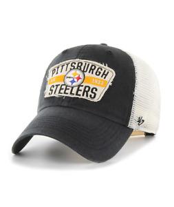 PITTSBURGH STEELERS VINTAGE BLACK CRAWFORD  47 CLEAN UP TRUCKER MESH HAT