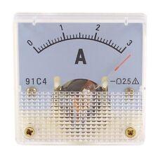 Dc 0 3a Class 25 Meter Rectangle Analog Panel Ammeter Gauge Amperemeter