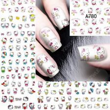 12 Sheets Nail Art Water Transfer Sticker full Cover Decal Hello Kitty  A780#