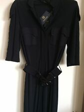 New Versage Dress With Tag, Authentic,Black,Size 44,USA8.Made In Italy.