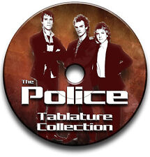 THE POLICE STING ROCK POP GUITAR TAB TABLATURE SONG BOOK SOFTWARE LIBRARY CD