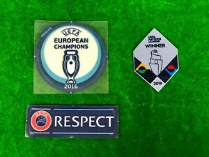 OFFICIAL PLAYER ISSUE PORTUGAL FPF EURO 2020 AUTHENTIC Patches