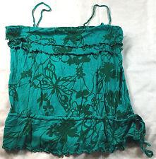 Old Navy green spaghetti strap blouse, size M