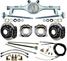 CURRIE 78-87 GM G-BODY REAR END & WILWOOD DRILLED DISC BRAKES,BLACK,LINES,CABLES