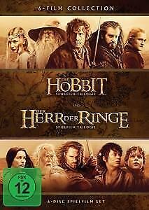 DER HOBBIT & DER HERR DER RINGE Trilogie - 6 DVD Disc COLLECTION