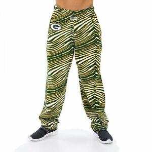 Zubaz NFL Men's Green Bay Packers Classic Zebra Print Team Logo Pants