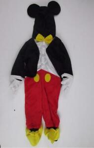 DISNEY BABY MICKEY MOUSE FULL BODY TUXEDO PLUSH DRESS-UP COSTUME 12-18 MTHS NEW
