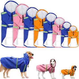 Waterproof Dog Raincoat Pet Puppy Rainwear Jacket for Small Large Dog Chihuahua