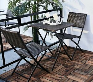 3 Piece Beautiful Outdoor Grand Patio Parma Rattan Chairs