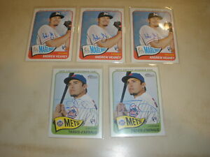 Lot of 5 - 2014 Topps Heritage Rookie Real One Auto A Heaney Travis D'Arnaud RC