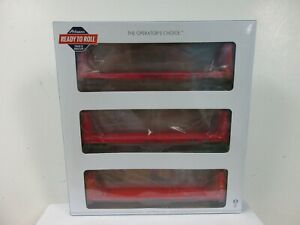 HO Athearn RTR 60' Bulkhead Flatcar, ICG, orange, 3-pk, all different #'s, NEW