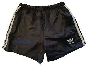 Adidas vintage Nylon Shorts Gr D 5 US M Sporthose 90s 90er shiny Sprinter black