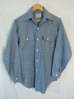 VTG JCPenney Big Mac Permanent Press Long Sleeve Work Shirt Size S (14-14 1/2)