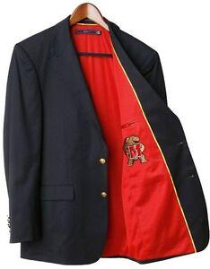 Maryland Terrapins Team Blazer Licensed Logo Sport Coat - Short - Regular - Tall