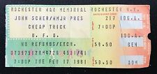 "CHEAP TRICK TICKET STUB - ""DREAM POLICE"" TOUR with UFO -ROCHESTER, NY 2/17/81"