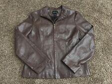 Moda International Women's Dark Brown Leather Jacket Size: Medium