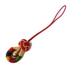 "Kumihimo Amulet Charm Keychain""Gorin"" colorful bell Japanese Kimono Braid Craft"
