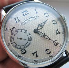 IWC International watch co SCHAFFHAUSEN wristwatch steel case, glass back cover