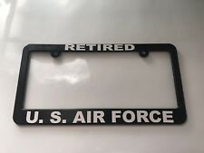 RETIRED US AIR FORCE License Plate Frame NEW
