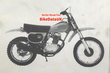 Genuine Honda XR80 (1979) Dealers Set-Up Manual XR 80 Schoolboy Enduro HE01 PDI