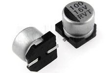 SMD Aluminium Electrolytic Capacitor 16V 100uF 6x5mm