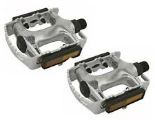 """ROAD MTB 940 Alloy Pedals 9/16"""" Sliver. cruiser 9/16 pedal.fixie bicycle pedal"""