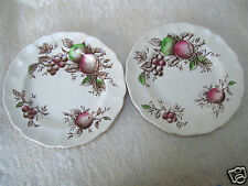 """Lot Two 2 JOHNSON BROTHERS Harvest Time 6 1/4"""" Side Plates Made In England"""