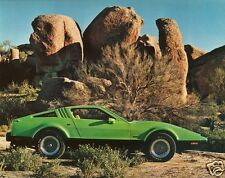 1975 BRICKLIN, Refrigerator Magnet, GREEN, Side View, 40 MIL THICK