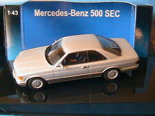 MERCEDES BENZ 500 SEC W126 COUPE 1986 ASTRAL SILVER METAL AUTOART 56212 1/43