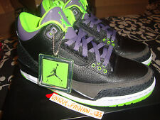 2013 NIKE AIR JORDAN RETRO 3 III JOKER US 8.5 UK 7.5 EU 42 BLACK CEMENT GREEN