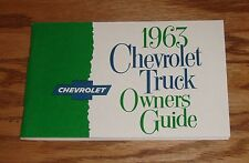 1963 Chevrolet Truck Owners Operators Manual 63 Chevy Pickup Suburban