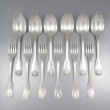 Vintage French Silver Plate Christofle Flatware Set, Vendôme Pattern, Louis XIV